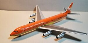 AVIATION 200 BRANIFF INTERNATIONAL DC8-62 (ORANGE) 1:200 SCALE DIECAST MODEL