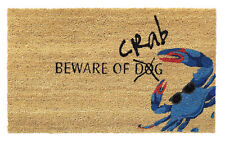 Home Furnishings by Larry Traverso Beware of Crab Doormat
