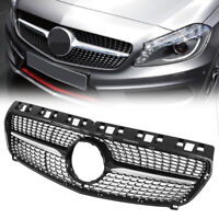Front Grille Grill For Mercedes Benz W176 A Class Diamond Design 2013 2014 2015