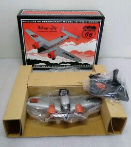Phillps 66 Beechcraft Model 18 Twin Beech Die Cast Metal Airplane Collector's Ba