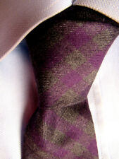Men's Express Green Purple Cotton Mexico Yarn Hand Made Skinny Tie A28308
