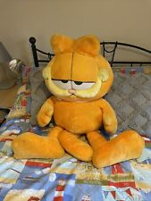 More details for vintage large jumbo garfield 3ft tall plush stuffed toy + free garfield book