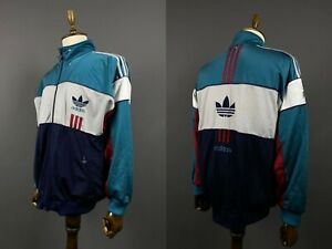 Men Adidas Originals Vintage Multicoloured Full Zip Track Jacket Size 8 / 192
