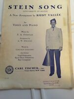 Vintage Rudy Vallee ORIGINAL 1930 University of Maine Stein Song Sheet Music