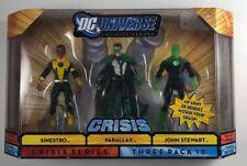 "DC UNIVERSE INFINITE HEROES 3.75"" PARALLAX SINESTRO GREEN LANTERN FIGURE SET NEW"