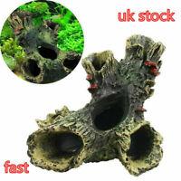Large Aquariums Decoration Dead-Wood Trunk Hole For Fish Ornament Tank Q6J7