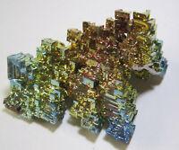 +++ Wismut Kristall // synthetisch +++ bismuth crystal Stufe Sammlung | Nr. 13