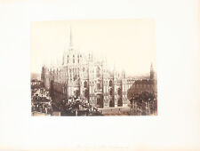 ALBUMEN PHOTO OF THE MILAN CATHEDRAL FROM ABOVE - MILAN, ITALY