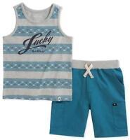 Converse All Star Infant Boys Gray Yellow Shirt /& Navy Blue Mesh Shorts Set