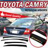 For 02-06 Toyota Camry Window Guard Visor Slim Rain Shade Vent Deflector W/ Logo
