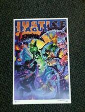 2012 JUSTICE LEAGUE PRINT 1 BY JIM LEE AND ALEX SINCLAIR SIGNED SN - 50