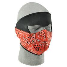Red paisley full neoprene face mask biker snowmobile ski Zan Headgear WNFM053