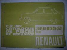 CATALOGUE PIECE RECHANGE PR 880 OCCASION ORIGINE RENAULT 6 - R6 D'EPOQUE