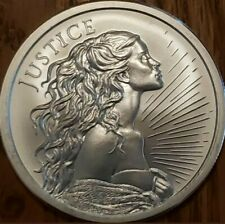 2020 1 Oz .999 Pure Silver Shield Justice Round Coin Freedom Girl Bu Bullion New