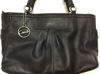 Coach Womens Handbag Satchel Shoulder Black Leather A1072-F13759  H24