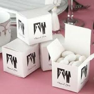 Sample of 1 x Comtemporary Bride And Groom Wedding Sweet Favour Boxes- New