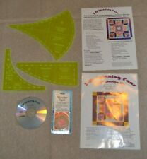 Quilt Templates, Sew Inspired basic design kit 3-Dspinning Fans, + Cd & tape