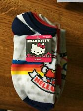 NWT 6 Pair Hello Kitty No Show Socks All Different 9-11 for Shoe 4-10
