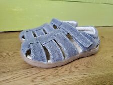 See Kai Run Toddler Boy's Jude Gray Canvas Fisherman Sandals Shoes Sz 11.5 NEW
