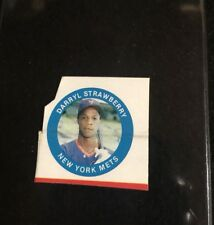 1984 Fun Foods Buttons Box Cut Darryl Strawberry Rookie   **05431