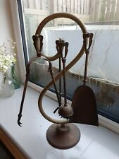 LOVELY VINTAGE CAST BRASS FIRESIDE COMPANION SET