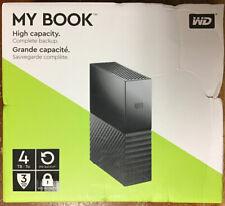 WD 4TB My Book Desktop External Hard Drive - USB 3.0 - WDBBGB0040HBK-NESN - New