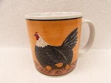 Henny Penny by Sakura Oneida Yellow Mug Black White Chicken Chicks BRAND NEW