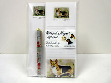 Welsh Corgi List Pad Note Pad Magnet & Pen Stationery Gift Pack By Ruth WEC-5