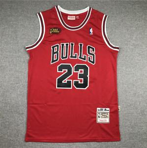 Retro 1998 Finals Michael Jordan #23 Chicago Bulls Basketball Trikot Jersey.