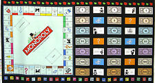 MONOPOLY Board Game Property Deed Money Hotel Jail Cotton Fabric By The Panel