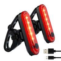 Bike Light Powerful LED USB Rechargeable , Bike Back Light Waterproof Bicycle PI