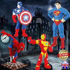 Superhero Nano Building Blocks WITH BOX Xmas Gift UK