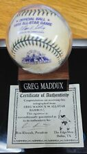 Official 1998 All-Star Game Ball Autographed By Greg Maddux