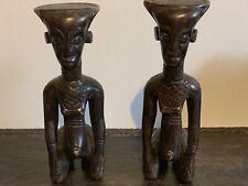 Art africain- Statue- Paire de statuettes ( République démocratique du Congo)