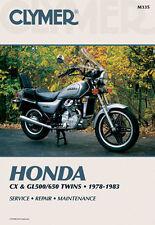 HONDA CX500, CX650, GL500, GL650 REPAIR SERVICE MANUAL BOOK 78-83, M335