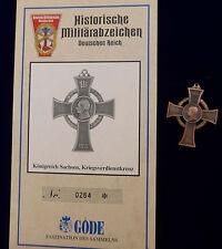 Göde Abzeichen Sachsen --Kriesverdienstkreuz--