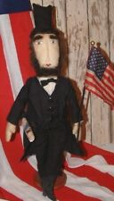 "Primitive Folk Art Americana Abraham ""Abe"" Lincoln Doll Pattern"