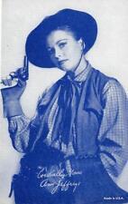 ANNE JEFFREYS Western Movie Star Cowgirl Actress ca 1940s Vintage Arcade Card