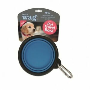 Henry Wag Dog Travel Bowl, Travel Bowl for Dogs, Collapsible Bowl