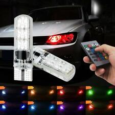 2x T10 5W5 LED LAMPEN RGB COLOR REMOTE TUNING STYLING COOL WIT STADSLICHT GAAF