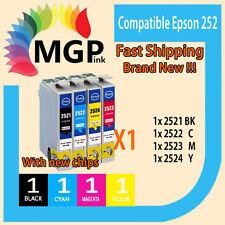4x Generic Ink  252 for Epson Workforce WF-7610 WF-7620  WF-3620