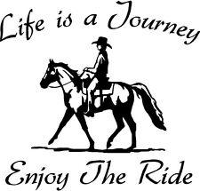 Life is a Journey Enjoy the Ride Horses Window Decal Sticker Vinyl Truck Car