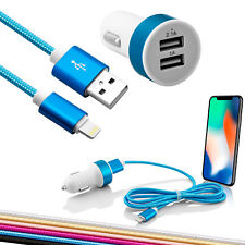 Lightning Auto Ladekabel KFZ Adapter Ladegerät für Apple iPhone X 8 Plus 7 6 5 S