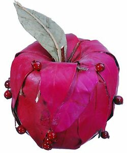 Leaf Twig Berry Apple Natural Red Country Fruit Craft Floral Decor Fillers 632e
