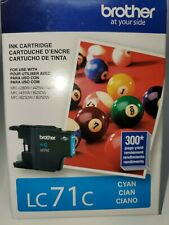 Brother LC71C Ink Cartridge, 300 Page Yield, cyan