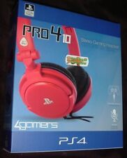 RED Officially Licensed STEREO Chat GAMING Headset Playstation 4 PS4 Pro4 10