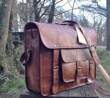 New Men's Real Leather Handmade Brown Tote Bag Shoulder Bag Messenger Briefcase