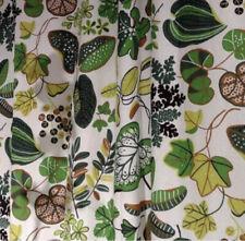 2 X IKEA SYSSAN Tropical Floral Leaf Curtain Drape Panels Modern Retro Green Wht