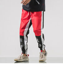 URBAN OUTFITTERS KOREAN WIND SWEATPANTS BLACK/RED SIZE MEDIUM