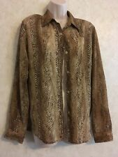 Jones WEAR Sport Womens SIZE 10 LEOPARD SHIRT BUTTON DOWN CAREER SEXY